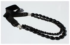 Black Onyx, Sterling Silver & Leather Necklace. To Be Launched May 1, 2012 on Etsy http://www.etsy.com/shop/SoPrettyJewelry
