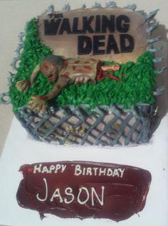 The Walking Dead cake!