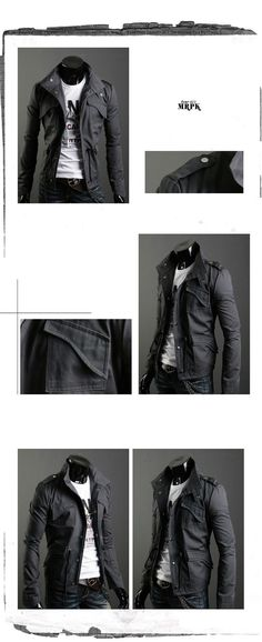 New Style Pockets Slim Fit Jacket