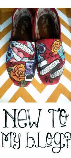 Custom Toms.  Hand painted photographer shoes, cameras, smile it increases your face value : )  (specsandwings.com)