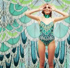 yes to GREEN + patterns, Mara Hoffman swim 2013