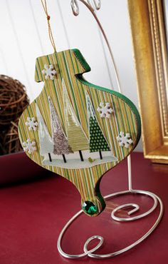 Dimensional Magic and Mod Podge ornament