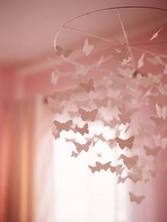 Paper Mobile Butterflies. I adore mobiles!