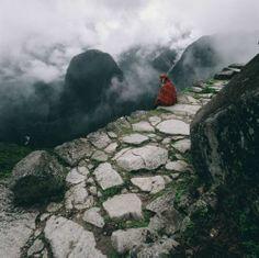 Machu Picchu steps.