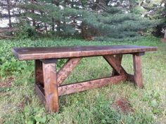 Beautiful Rustic Providence Bench. Free plans Ana-White.com