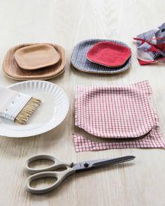 DIY Cloth Decoupage Tray