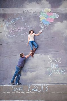 Engagement session Save the Dates Inspiration.  Could also do this for child's party invites, baby showers, etc... BraskaJennea Photography