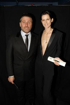 Stella Tennant with David Sims, who presented her with the Model award at the British Fashion Awards, November 2011