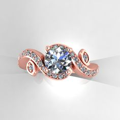 rose gold engagement  ring with white by EternityCollection, $1100.00 @Michele Morales Johnson