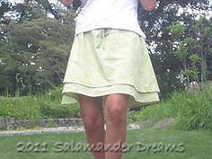 DIY: Two-Layer, Drawstring, Perfect Summer Skirt