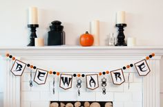 Beware Halloween Banner. Make It Now in Cricut Design Space