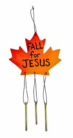 """Leaf Windchimes from Guildcraft Arts  Crafts! The perfect project for Fall festivals! Includes wooden leaves, metal wind chimes and precut cord. 6"""" x 10"""". Decorating supplies sold separately. #Fall #ChristianCrafts #Crafts"""