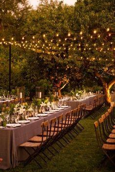 #wedding #lighting #outdoor #reception