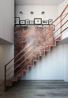 stairs + copper + industrial