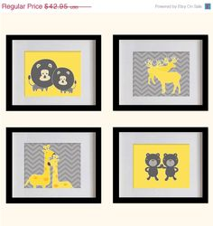 ON SALE Safari Animals Nursery Art Print   by MadeForYouPrints, $37.95