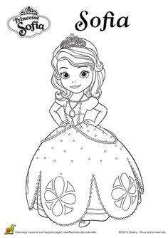 Dibujo para colorear de la Princesa Sofía (nº 3)