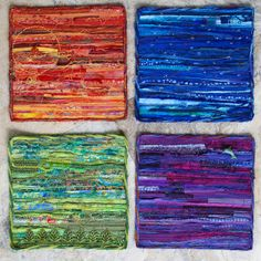 Fiber Art Wall Hanging  by ForComfortQuilts