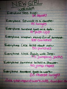 New Girl workout! Want to see more workouts like this one? Follow us here.