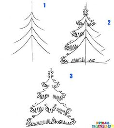 how to draw a tree, xmas trees, draw paintingdrawingzentangl, christma tree, doodl, 3d art, christmas trees, embroidery designs, kid