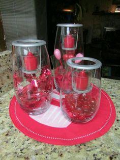Valentine's Day - Valentine's Day centerpieces