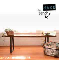 How To: Make This Industrial Schoolhouse Bench — Old House New Tricks
