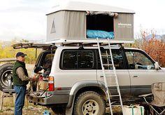 Maggiolina roof top tent at camp