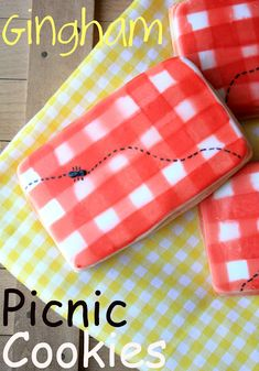 Gingham Picnic Cookies ....... how adorable are these!