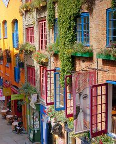 covent garden, england, window, london, color