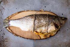 Cedar Plank Grilled Loup De Mer (Sea Bass).