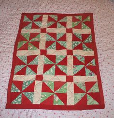 Doll's cot quilt by the vintage cottage, via Flickr