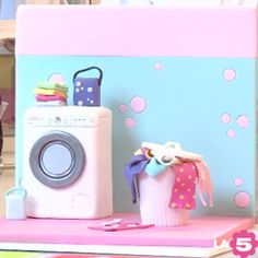 STEP BY STEP HOW TO CAKE VERY BEAUTIFUL WASHING MACHINE AND VIDEO RECIPE