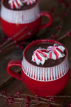 Hot Cocoa with Peppermint Marshmallow Cookies