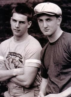 """Tom Cruise and Sean Penn in 1981 Wow is this vintage! Must be from around """"Taps"""". Loved that movie and saw it dozens of times back then"""