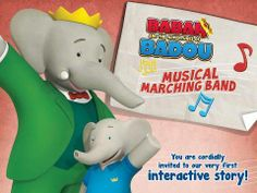Babar & Badou's Musical Marching Band - interactive storybook based on the Babar and the Adventures of Badou TV Series. Original Appysmarts score: 92/100