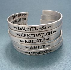 Divergent Inspired Faction Bracelets