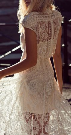 white lace beaches, fashion, style, cloth, white lace, closet, beauty, loveeee, lace dresses