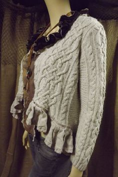 Lagenlook Upcycled Sweater Silk Blend One by bluemermaiddesigns