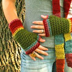 Crochet-Fingerless gloves