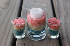 DIY 4th of July Decoration: Candle Holders
