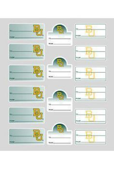 Cute for Christmas! // #Baylor University Gift Label Sheet - 16 Count ($7.95 at Baylor Bookstore)
