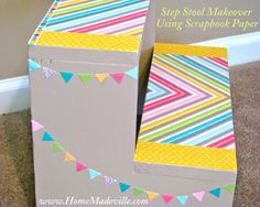 This stool makeover is SO cute!! Full tutorial available so you can make one of your own.