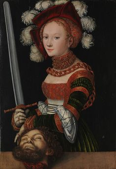 Lucas Cranach the Elder (German, 1472–1553). Judith with the Head of Holofernes, ca. 1530. The Metropolitan Museum of Art, New York. Rogers Fund, 1911 (11.15) #hands #Connections