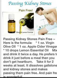 Essential Oils for Kidney Stones or Gall Stones. How to pass a kidney stone pain free.