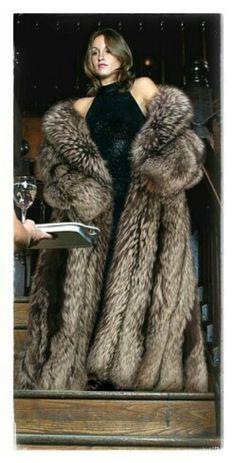 Luxury silver fox fur