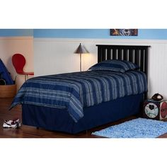 Belmont Slat Headboard Finish: Black, Size: Full/Queen    Features: -Please Note: Twin size ships via UPS and consists of traditional UPS delivery service. -Available in Twin or Full / Queen sizes    $137.92