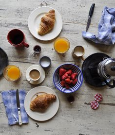 Breakfast in France.  Wish I was there now...