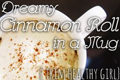 Trim Healthy Girl / Mama Dreamy Cinnamon Roll in a Mug!  Sugar-free AND gluten-free!  #thm #thg #trimhealthymama #trimhealthygirl