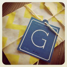 Downloadable and Printable Free Monogram Gift Tags
