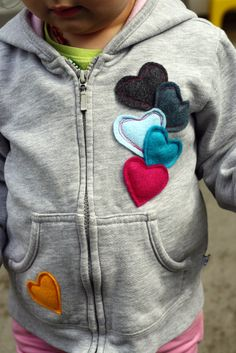 upcycled hoodie (should definitely do this to salvage stained shirts!)