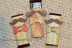 Wrapped candy bars...for father's day